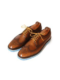 Greenwich Vintage - Cognac Brown Longwing: White Mid-Sole & Baby | VAULT