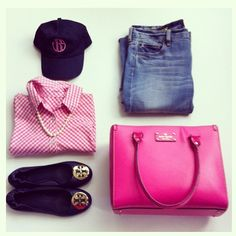 missjanice:  #ootd Navy blue and pink (at Miss Janice's Closet)