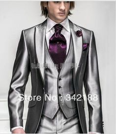 button peak lapel cheap dress and groom s - Costume Col Mao Mariage