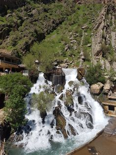Bekhal waterfall is a little gem hidden in #Rwanduz, nestled in the mountains north of #Erbil. Cool weather and wonderful view from the top! #Kurdistan Via twitter Italian council in Kurdistan Graduation Project, Kurdistan, Gem, Waterfall, Weather, River, Mountains, History, Cool Stuff