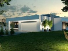 DOM.PL™ - Projekt domu CPT HomeKONCEPT-58 CE - DOM CP1-74 - gotowy koszt budowy House Design Pictures, Small Modern Home, Unique House Design, Home Design Plans, Home Fashion, Cabana, Construction, Architecture Design, House Plans