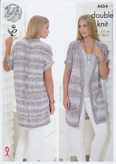 knitting pattern - Ladies Waistcoat Plus Size Aran Knitting Patterns Pint...