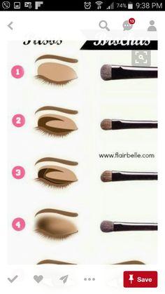 Summifit Professional Make-up Pinsel Set Powder Foundation Contour Blending Lidschatten Eyeliner Bronzer Lip Brush Kit - Makeup Tutorial Smokey Makeup Guide, Eye Makeup Tips, Skin Makeup, Makeup Inspo, Makeup Inspiration, Makeup Brushes, Beauty Makeup, Makeup Ideas, Beauty Skin