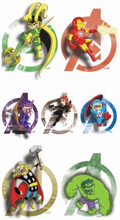 The Avengers. (Cap is my fav here!) #Avengers