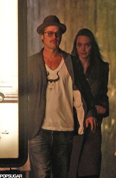 Can you see what's on Brad Pitt's shirt? So adorable!