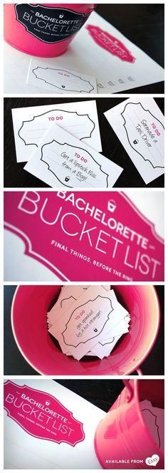 bachlorette party games | Bachelorette Bucket List - Game #bachelorette #party ... | Bacheloret ...