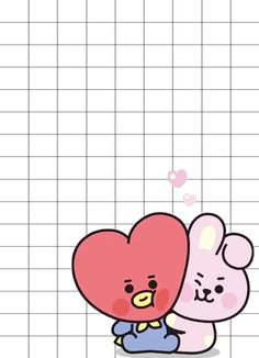 BT21 WALLPAPER  BABY TATA  WITH BABY COCKY ❣ Couples Anime, Dont Touch My Phone Wallpapers, Polymer Clay Kawaii, Instagram Frame, Kpop Drawings, Album Bts, Bts Chibi, Cute Cartoon Wallpapers, Bts Lockscreen