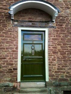 Green Front Door in Ross-on-Wye & another front door tudor | My Perfect Home | Pinterest | Front ... pezcame.com