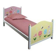 WOODEN SINGLE BED (FIR) IN PINK FLOWERS 198Χ90Χ93