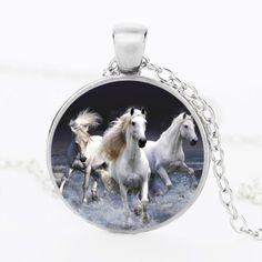Original Price US $1.16 Sale Price US $0.93 SUTEYI Unique Unicorn Picture Necklace Glass Cabochon Horse Pendant Animal Handmade Silver Color Chain Necklace Jewelry it: heres how #unique_necklaces