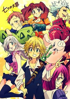 Seven Deadly Sins Anime, 7 Deadly Sins, Manga Anime, Anime Art, Otaku Anime, Kamigami No Asobi, Seven Deady Sins, 7 Sins, Pokemon Comics