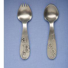 ABC 123 Spork and Spoon Set