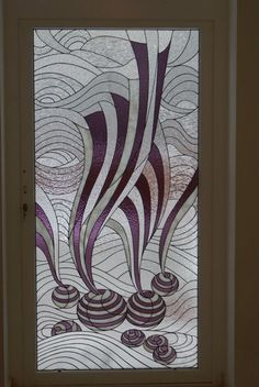 Stained glass as the abstract picture