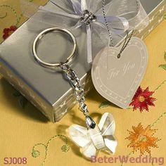 Co cristalinos bien escogidos Ltd de los regalos de Beter del @Sarah Chintomby Sproxton de las cadenas dominantes SJ008 del diseño de la mariposa del favor de la boda