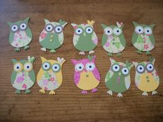 cute owl craft using scrapbook papers. Cute to decorate a little girl or little boys room.
