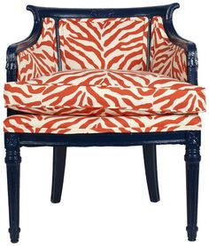 Always need a touch of animal print     Grandin Road Color Crush on Burnt Orange