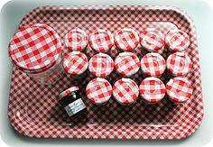 """birdie blue: mini bonne maman These would be great """"Pots du Creme"""" pots"""