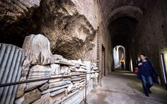 The covered ramp connected the Palatine Hill, where emperors lived in lavish   palaces, with the Forum below