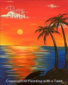 #PWAT  #PaintingWithATwist   Painting With A Twist  Sunset