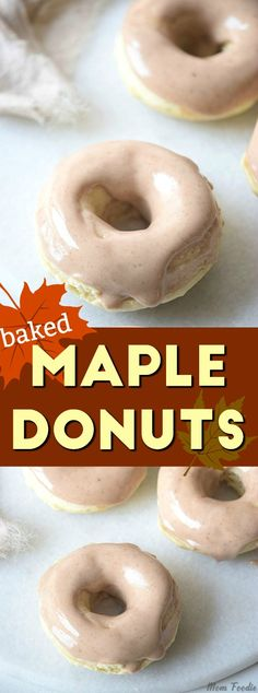 Baked Maple Donuts recipe added to our site quickly. Today we share a delicious Baked Maple Donuts recipe donut cake recipe that you can enjoy with your family or loved ones. Donut which is one of the traditional flavors will attract you with its brand … Baked Doughnut Recipes, Baked Doughnuts, Vegan Donut Recipe, Healthy Donuts, Delicious Donuts, Köstliche Desserts, Dessert Recipes, Beignets, Maple Donuts