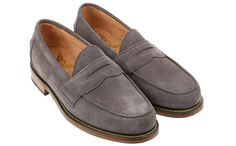 Mark McNairy gray suede loafers