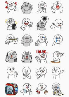Free Moon Funny Face Part 2 Line Sticker In US