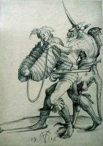 Landsknecht und Teufel, 1516 by Urs Graf
