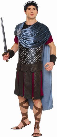 Description #49441 Includes: - Tunic with attached drape - Cape - Roman kilt Sizes: L(42-46), XL(46-50) *Does not include sword, shoes and accessories*
