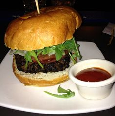 Kobe BWK from M:BRGR: Kobe beef, pecorino cheese, arugula, cherry tomatoes, grilled all-beef salami, chili ketchup.
