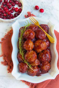 Paleo Cranberry BBQ Turkey Meatballs! (gluten,grain,egg,nut,dairy free) - Brittany Angell