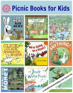 Books for kids. Take these books along on your next picnic!