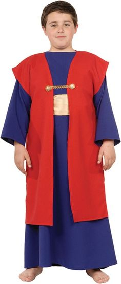 Wiseman I Child Costume - Holding a Nativity Play? This is the perfect costume for Wiseman I. Includes a Full length, long sleeve tunic with vest. | Costumes.com.au
