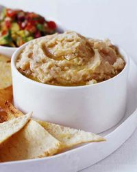 White Bean Dip with Herbs (add extra herb, lemon and make a day ahead)