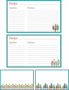 Free Printable Recipe Cards Love This Website All Kinds Of