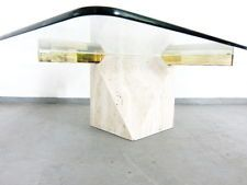 Artedi Couchtisch Travertin Messing Glas Ebay Couchtisch Glas