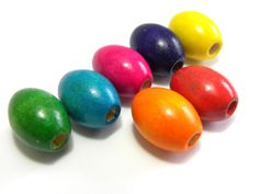 50x Oval Wooden Beads 17x13 mm  Mixed by KolibriBeadSupplies