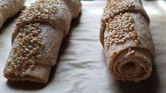 Dinkelstangerl - food-stories/FOODBLOG mit veganen und vegetarischen Rezepten Dessert, Bread, Homemade, Dinner, Recipes, Food, Homemade Breads, Baking Buns, Cooking