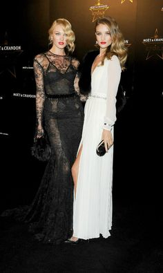 Candice Swanepoel & Rosie Huntington-Whiteley