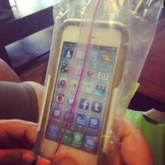 Put your iPhone in a sandwich bag to protect it. The touchscreen will still work! | 16 Beach Hacks That Will Save Your Summer