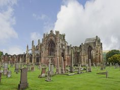 Melrose Abbey was founded in 1136 but largely destroyed 2 centuries later. The expansive ruin and lavish masonry are unsurpassed in Scotland.
