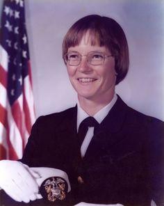 Portrait of Joyce A. Heflin in Navy uniform - The Betty H. Carter Women Veterans Historical Project - UNCG University Archives