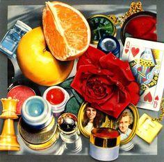 Audrey Flack, Queen, Like a Baroque vanitas image, Queen is an allegorical… Vanitas Paintings, Still Life Artists, Feminist Art, Queer Art, Art Base, Foto Art, Gcse Art, High Art, Everyday Objects