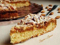 TORTA MANDORLE e AMARETTI | Zenzero e Limone Burritos, Sweet Recipes, Cake Recipes, Pastry Art, Biscotti, Baking And Pastry, Bakery Cakes, Sweet Cakes, Gelato
