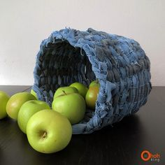 Learn how to turn those old denim jeans into sturdy fabric baskets to organize in your home.