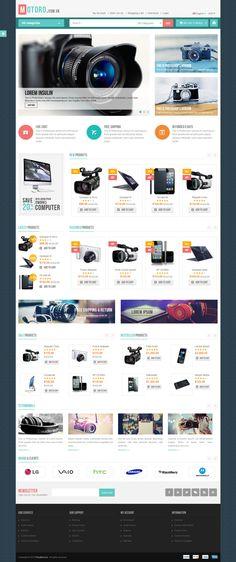 MOTORO - Digital Responsive OpenCart Theme #website #webdesign #webstore Download: http://themeforest.net/item/motoro-digital-responsive-opencart-theme/11594846?ref=ksioks