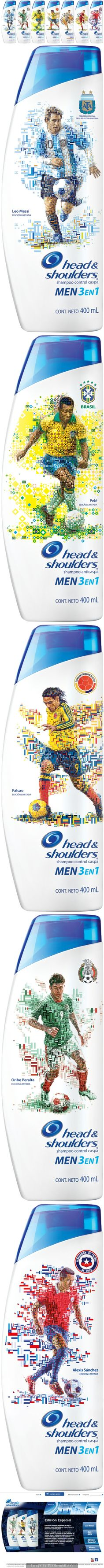 Head  Shoulders Limited Edition collectable packaging of Head  Shoulders for the World Cup in Brazil. (Unfortunately, they think the Pele's still playing in Brazil team!).