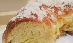 una rica rosca de mazanas y crema pastelera!