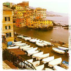Il porticciolo di Boccadasse, #Genova #Liguria Essenza di Riviera www.varaldocosmetica.it