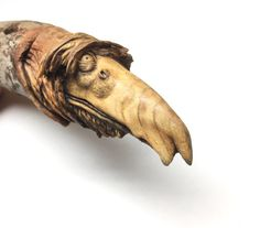 Creature Wood Carving, Hand Carved Collectible, Perfect Wood Gift, Artist Original, OOAK Sculpture, by Josh Carte, Birthday Gift, Odd Art
