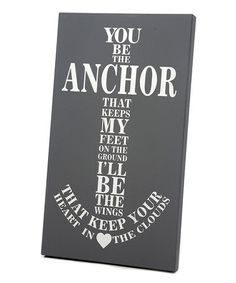 Another great find on #zulily! Gray & White Anchor Wall Art by Twelve Timbers #zulilyfinds